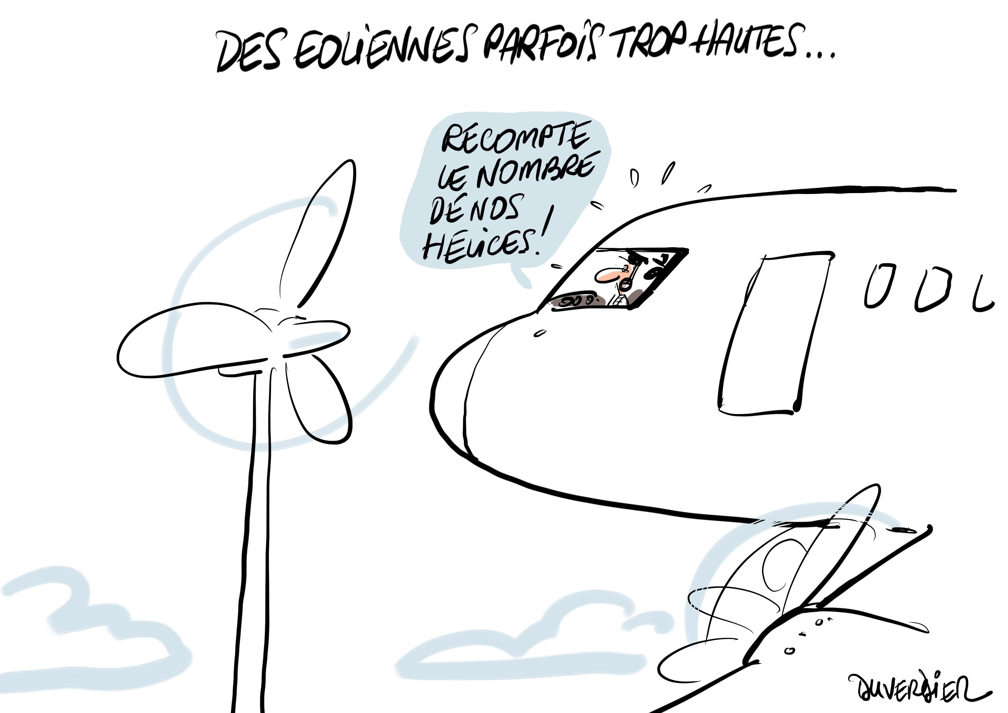 Eoliennes Avion