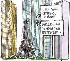 dessins humoristique tours paris
