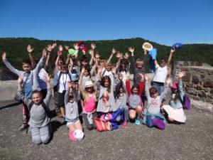 CM1-CM2 école Chambon-sur-Lac (lauréats 2017 K. Rossillon - visite château de Tournoel)