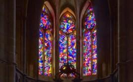 IMI KNOEBEL - Glasfenster - Reims - Kathedrale Notre-Dame - Jeanne d'Arc Chapelle
