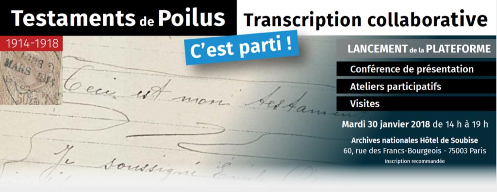transcription collaborative poilus
