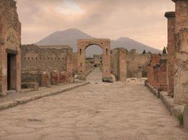 Il Vesuvio e le rovine di Pompei